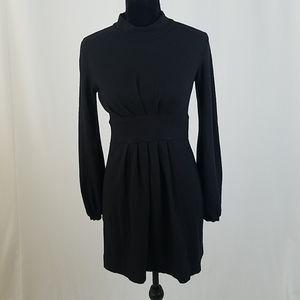 "Theory M Black ""Nina"" wool blend dress long sleeve"